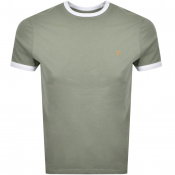 Farah Vintage Groves Ringer T Shirt Green